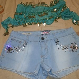 Hot Kiss vintage bedazzled jean shorts